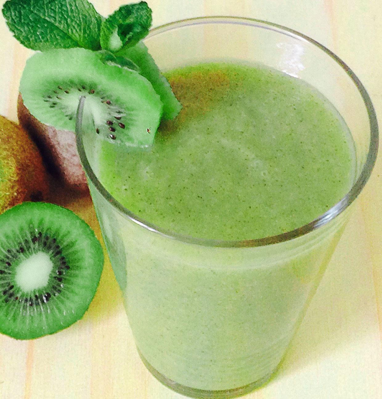 Smoothie vert au Kiwi